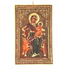 Mother Mary w/ Jesus on Throne
