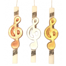 Easter Church Candle with Wax Clef